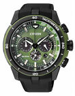 Citizen Eco-Drive Chronograph 100m Green Sports Men's Watch CA4156-01W