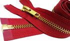 "14"" to 36"" #5 Brass Separating Jacket Zippers YKK ~ ZipperStop - RED 519"