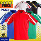 Mens Polo Casual Short Sleeve Sports Golf Contrast Breathable UPF 30+ 19 Colours