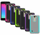 For LG Treasure 4G LTE Case Hybrid Armor Dual Layer Tough Phone Protective Cover