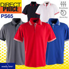 Mens Polo Shirts Work Casual Short Sleeve Sports Golf Team Contrast Breathable