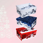 Christmas Storage Boxes Xmas Gift Baubles Presents Decorations Festive Box Case