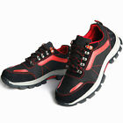 Men's Casual Safety Shoes Steel Toe Breathable Work Boots Hiking Climbing Shoes