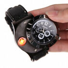 Wristwatch Watch with USB Rechargeable Electric Windproof Cigarette Lighter