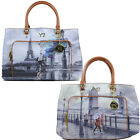 Borsa donna Y NOT ? shopping con manici a spalla SHOPPER BAG G-489 london Paris
