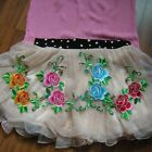 4pcs Embroidered Motif Double Colorful Flower Patch Iron on appliques FT06