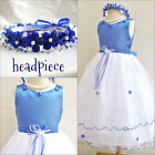 Gorgeous Royal sapphire blue pageant flower girl party dress easter dresses