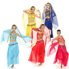3 Pics Belly Dance Costumes Womens Indian Dancing Dress Clothes Top Pants Veil