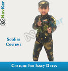 Soldier Fancy Costume for Kids with Camouflage Army Print