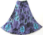 New Peasant Gypsy Funky Comfy Summer Tie Dye Purple Long Skirt One Size L XL1X
