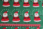 Father Christmas Santa Clause Xmas  Fabric material 100% cotton