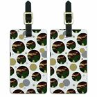 Luggage Suitcase Carry-On ID Tags Set of 2 Camouflage Camo Army Pattern
