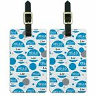 Luggage Suitcase Carry-On ID Tags Set of 2 Hello My Name Is La-Le