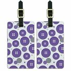 Luggage Suitcase Carry-On ID Tags Set of 2 Places and Things