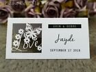 Personalised Love is in the Air Laser Cut White/Brown Wedding Place Cards