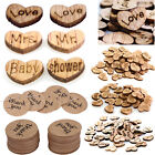 100X Wooden Heart Mr & Mrs Table Confetti Vintage Wedding Baby Shower Party Gift