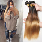 3 Bundles BRAZILIAN Ombre Straight Remy human hair Extensions 150g Three lot