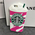 Cute 3D Starbucks Soft Silicone Back Case Cover Skin For iPhone & Samsung Galaxy