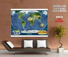 The World Satellite Map Textures Wall Print POSTER