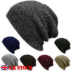 UK Fashion Men Unisex Winter Warm Wolly Knitted Corchet Slouch Beanie Skater Hat