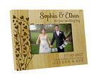 Wedding Day Personalized Picture Frame - Engraved Wood Table Frame Gifts