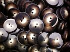 20mm 32L Brown Dark & Light Animal Print Patterned 2 Hole Craft Buttons (W251)