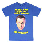 The Big Bang Theory Sheldon Quote Men's Blue T-shirt NEW Sizes S-M