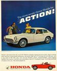 1966 HONDA CAR AD ART PRINT