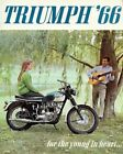 1966 TRIUMPH MOTORCYCLE AD ART PRINT $13.95 USD