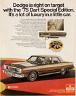 1975 DODGE DART CAR AD ART PRINT $74.95 USD on eBay