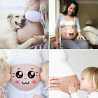 Cute Photo Paper Sticker For Pregnant Maternity Women Belly Painting Photography