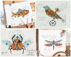 Embroidery cross stitch kit PANNA Bird Beetle Fish Dragonfly 1871 1915 1914 1872