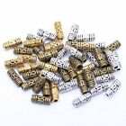 50Pcs Antique Silver/Gold/Bronze Column Tube Spacer Beads for Jewelry 8x3mm