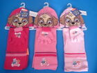 PAW PATROL GIRLS 3 PIECE  WINTER WARMER HAT SCARF & GLOVE SET SYKE EVERST NEW