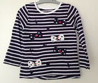 NEW Baby Girls Long Sleeve Bow Detail Top Age 12-18, 18-24 Months *FREE P&P*