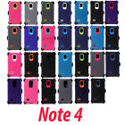 For Samsung Galaxy Note 4 Case Cover Built Screen [Clip Fits Otterbox Defender]