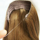 AAA Human Hair Extensions One Piece Invisible Wire Flip In 100% Human Hair 80g