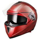 DOT Full Face Flip up Motorcycle Helmet Dual Visor Bike Race Siz фото