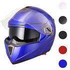 DOT Full Face Flip up Motorcycle Helmet Dual Visor Bike Race Size & Color Opt