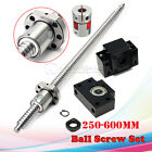 Antibacklash Ball Screw SFU1605 L250mm-600mm & BK12 BF12 + 6.35x10mm Coupler Set
