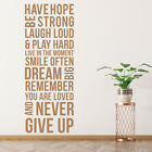 Have Hope Wall Sticker Inspirational Quote Wall Decal Kitchen Living Home Decor