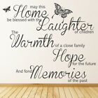 May This Home Be Blessed Wall Sticker Family Quote Wall Decal Living Home Decor