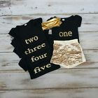 Girls Birthday Golden Outfit. First,Second,Third,Fourth & Five Gold Outfit. USA!