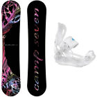 Featherlite with Lux Rear Entry Bindings Women's Snowboard Package