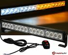 "18"" LED White Amber Light Emergency Warning Strobe Flashing Yellow Bar Hazard"