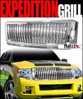 CHROME VERTICAL FRONT HOOD BUMPER GRILL GRILLE GUARD ABS 1P 2007-2014 EXPEDITION