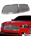 2011-2014 DODGE CHARGER CHROME LUXURY MESH FRONT HOOD BUMPER GRILL GRILLE GUARD