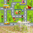 car pictures wallpaper - Fun Road Map Wall Mural Cars Animals Photo Wallpaper kids Nursery Playroom Decor