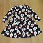 Ladies Girl Christmas Dress Mother & Daughter Kids Xmas Snowman Dresses All Size