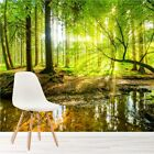 Green Tree Wall Mural Forest Landscape Photo Wallpaper Living Room Bedroom Decor